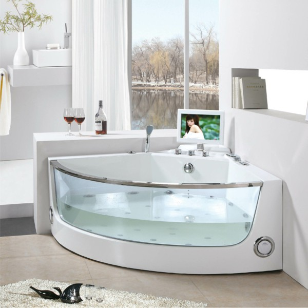 corner baths corner bathtubs with whirlpool glass LMVVDEE