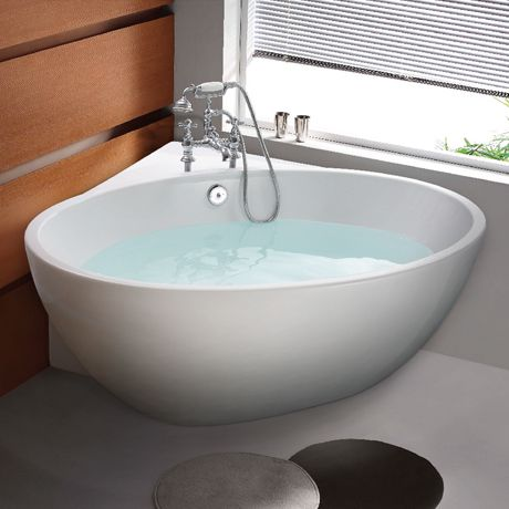 corner baths orbit corner modern free standing bath (1270 x 1270mm) YLNFQRL