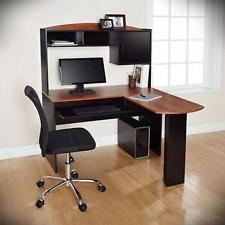 corner computer desk l-shaped workstation laptop home office student  furniture LHDNVOT