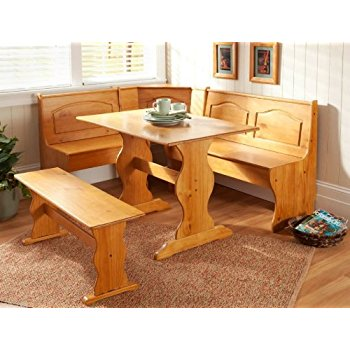 corner kitchen table essential home emily breakfast nook kitchen nook solid wood corner dining  breakfast JGGGZFE