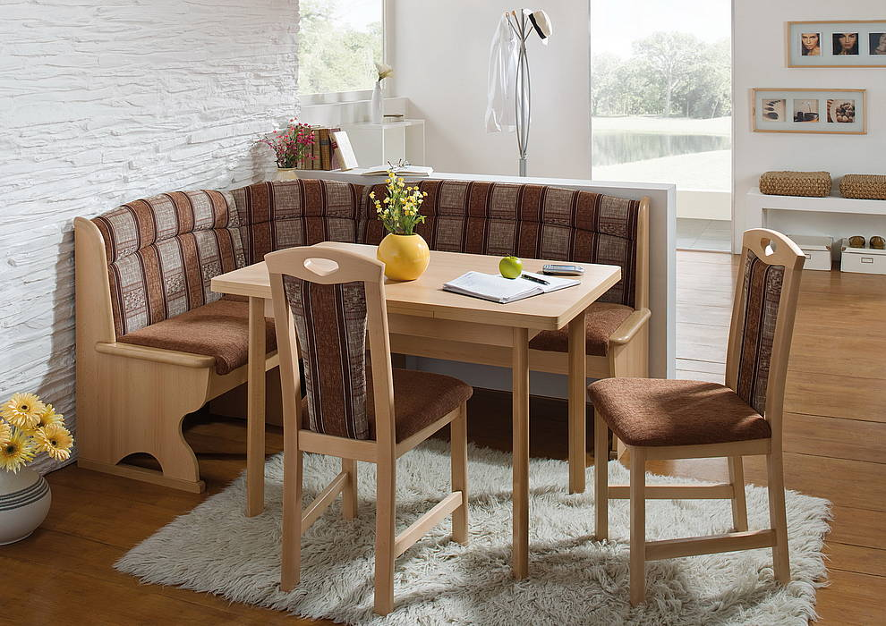 corner kitchen table wooden corner bench kitchen with cushion and unfinished wood square table  two DYMOZSC