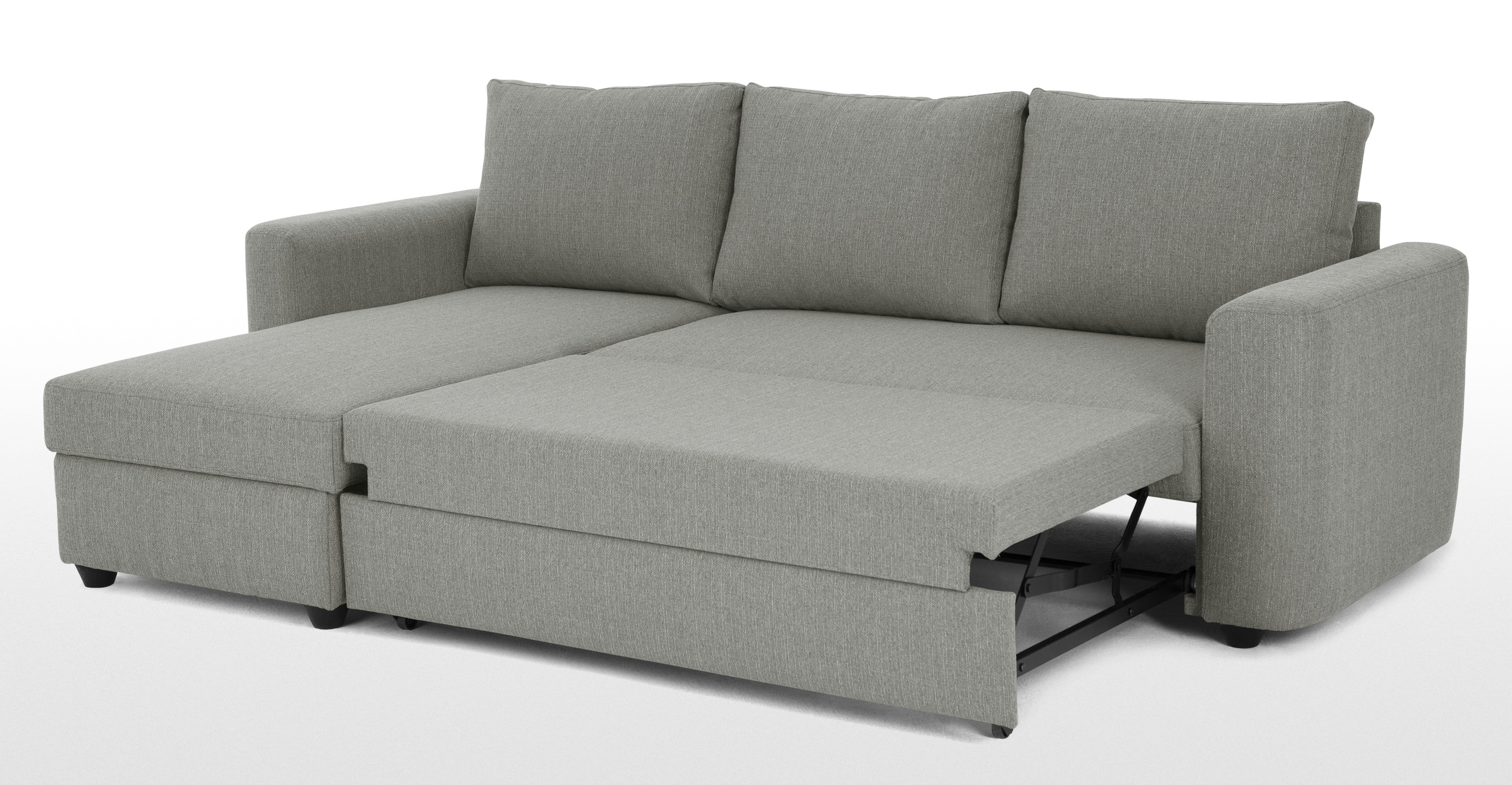 corner sofa bed aidian corner storage sofa bed, silver grey | made.com UJAVLKQ