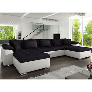 corner sofa bed image is loading corner-sofa-bed-wicenza-sleep-function-faux-leather- VRISHSO