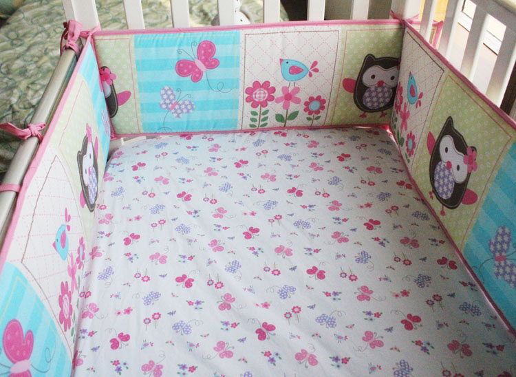 cot bedding sets 7pcs baby crib bumper sets ,baby bed covers,toddler crib cot bedding set ,include(bumper+duvet+bed JKSURWM