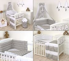 cot bedding sets grey stars baby bedding set cot cot bed 3,5,9 pieces cover bumper GCQQDQF
