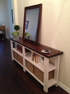 couch table narrow console (ana white). a shorter version of this would TBMSEYT