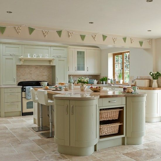 cream kitchens sage and cream shaker-style kitchen AELQKMC