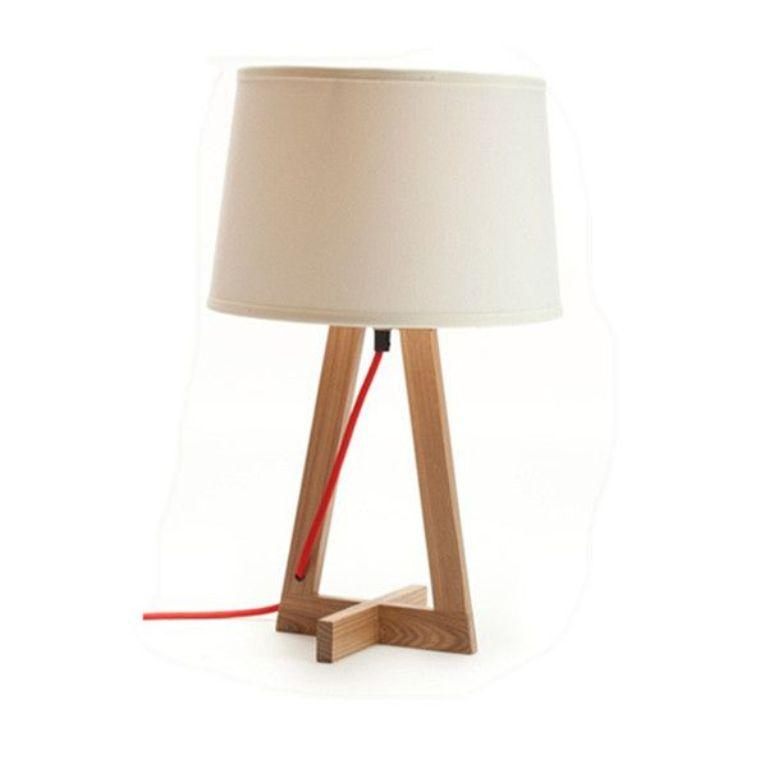 creamy bedside lamp VCIDGKA