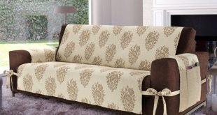 creative diy sofa cover ideas beige cover brown sofa with ties VLAWMLR