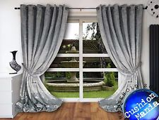 crush velvet curtains eyelet ring top thick crush velvet ready made fully AFRBRYG