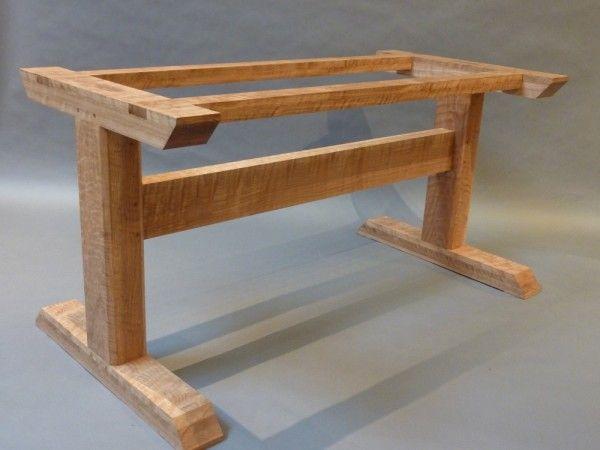 curly oak trestle table: hastening design studio JZGYZTH