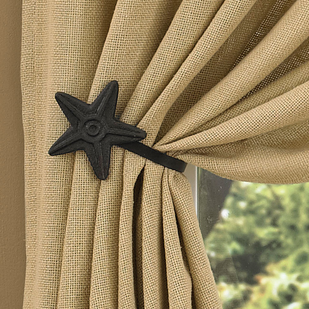 curtain tie backs ... black star curtain tie back. hover to zoom UBTZGDH