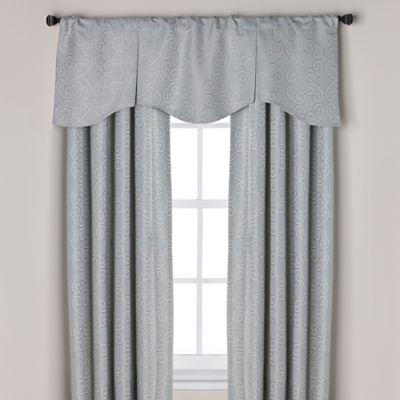 curtain valances captiva pleated window curtain valance in blue RWAEAQJ