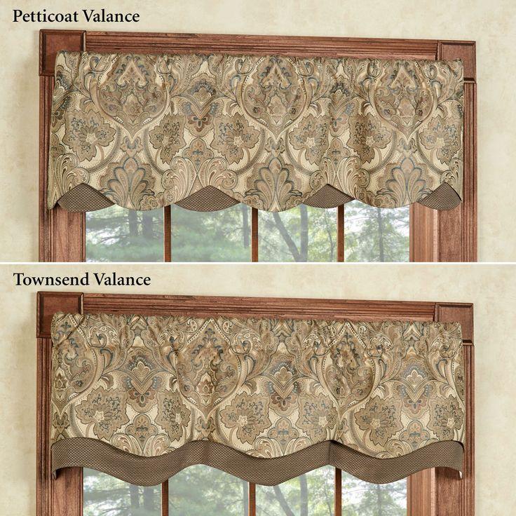 curtain valances hollyhock gold petticoat valance 52 x 15 TSCRMRQ