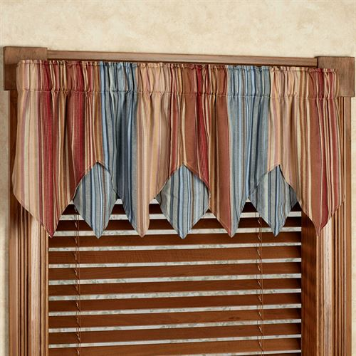 curtains with valance katelin layered valance blue 60 x 18 BYYEFME