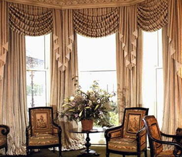 custom curtains custom drapery panels layered with swags. HPUNVHO