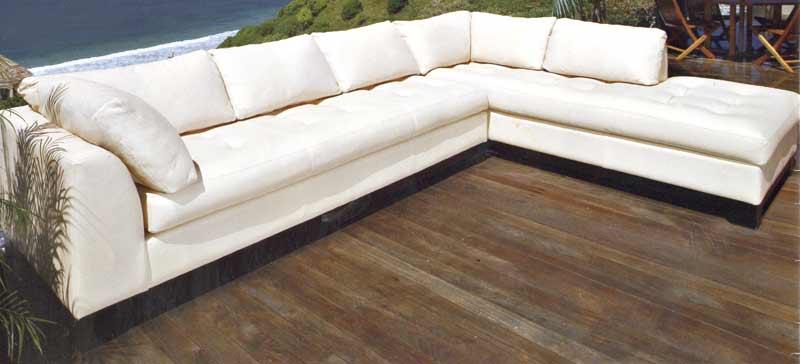 custom sofa white full grain leather designer sofa custom sectional - 6773 BXVXWFE