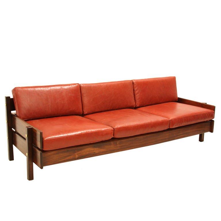 custom sofa with floating bookshelf by sergio rodrigues 1 NMWUNQL