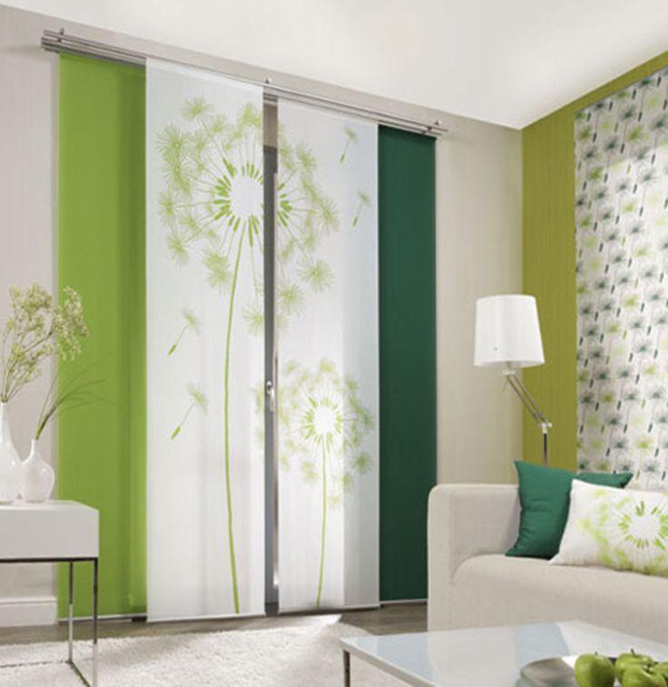 dandelion allover 1 sliding curtain panels room dividers - panel | ebay QRKLMQR