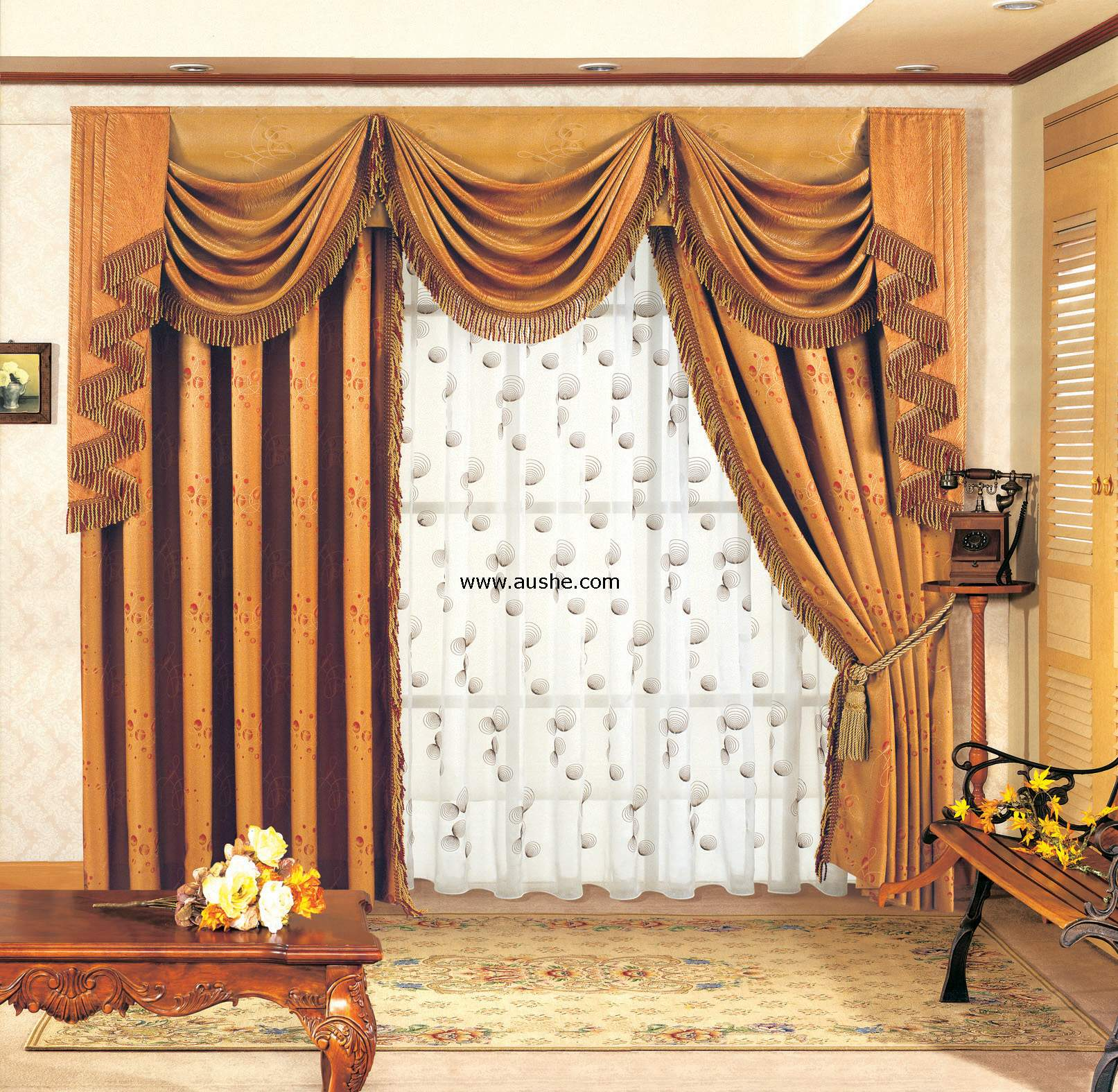 decorate your living room with curtain valances XCUYMJF