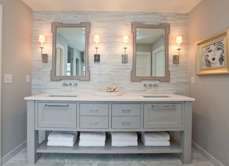decorating ideas for bathrooms collect this idea painted-vanity REHURKY
