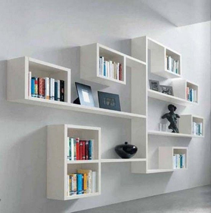 decorative modern wall shelves | wall shelves, diy wall and wall shelving ICXQPRN