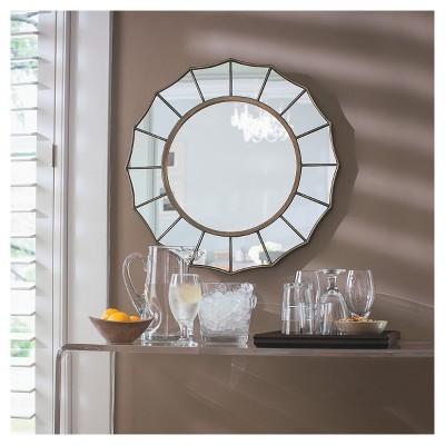 decorative wall mirrors round decorative wall mirror - threshold™ ZJAEXSL