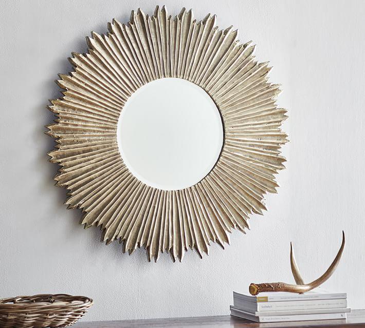 decorative wall mirrors soleil wall mirror | pottery barn EGDDXOW