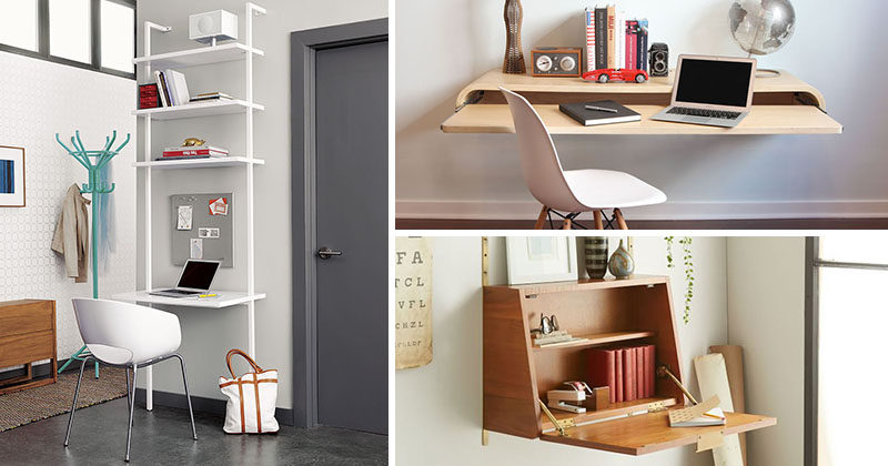 desks for small spaces 16 wall desk ideas that are great for small spaces QKUXETF