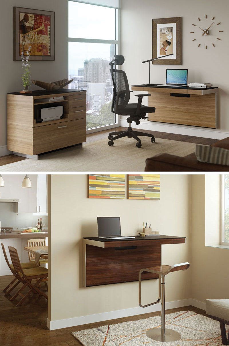 desks for small spaces 16 wall desk ideas that are great for small spaces // these mounted SFJGYOG