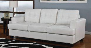 diamond white leather sofa bed LDIPJIK