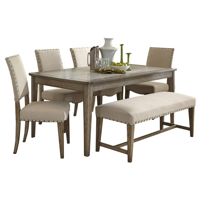 dinette sets 6-piece reynolds dining set RUIUPZO