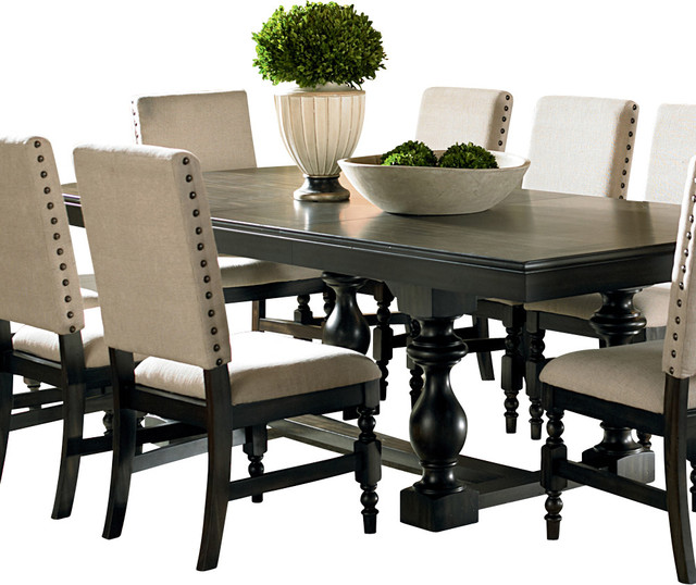 dining tables steve silver leona rectangular dining table in dark hand rubbed traditional- dining-tables JSOGABA
