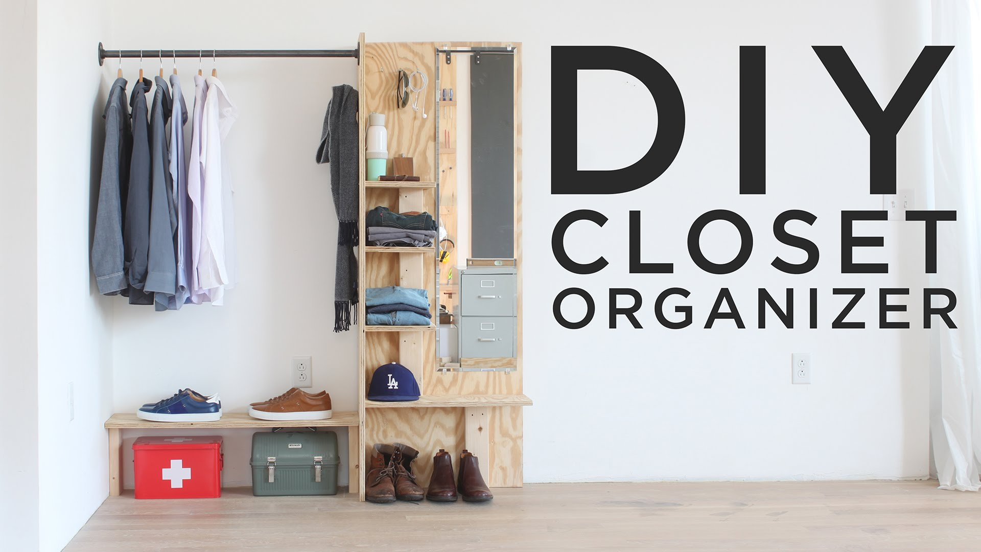 diy closet organizer - youtube JOSNVHR