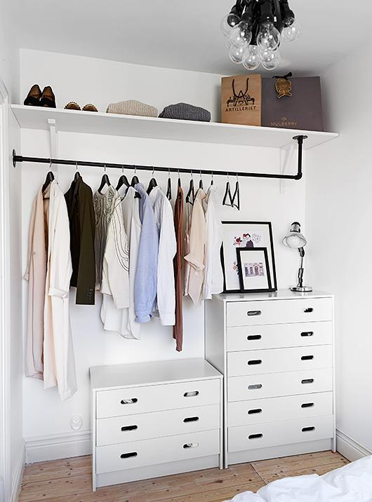 diy closet this closetu0027s chic, modern look can be replicated with very little diy and GCXRFSJ