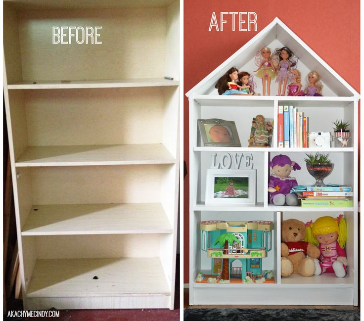 diy: dollhouse bookcase (from an old bookcase) this is what you would do WKMNFSU