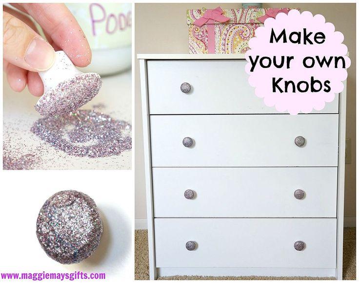 diy glitter dresser knobs-easy and cheap! SQBCTKR