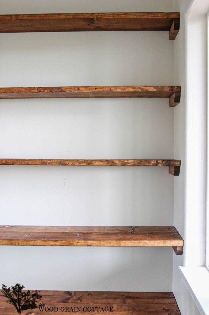 diy shelves - 18 diy shelving ideas LKRSNOP