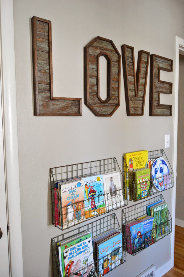 diy wall letters and initals wall art - pallet wood letters - cool HXZDQAD