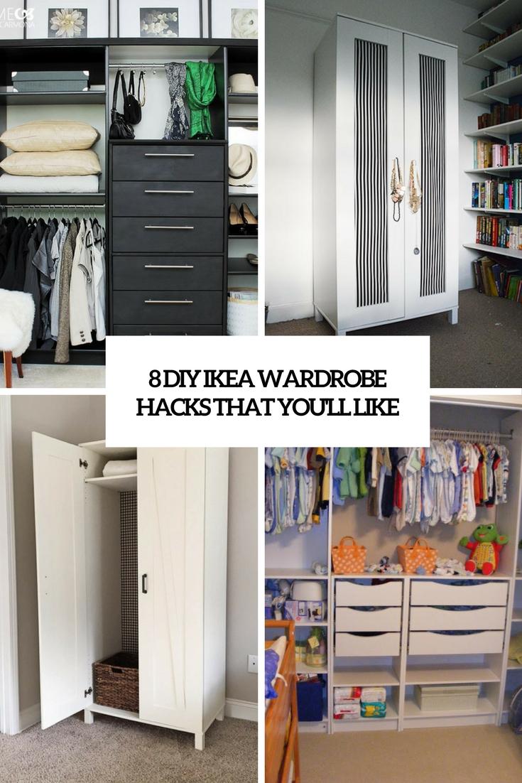 diy wardrobe 8 diy ikea wardrobe hacks that youu0027ll like WBGRTZK
