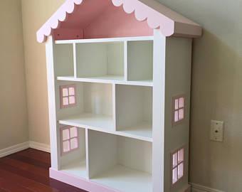 dollhouse bookcase, kids bookcase, childs bookshelf TLZHKUN