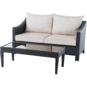 dragoon 2 piece outdoor loveseat u0026 table SFVJESX