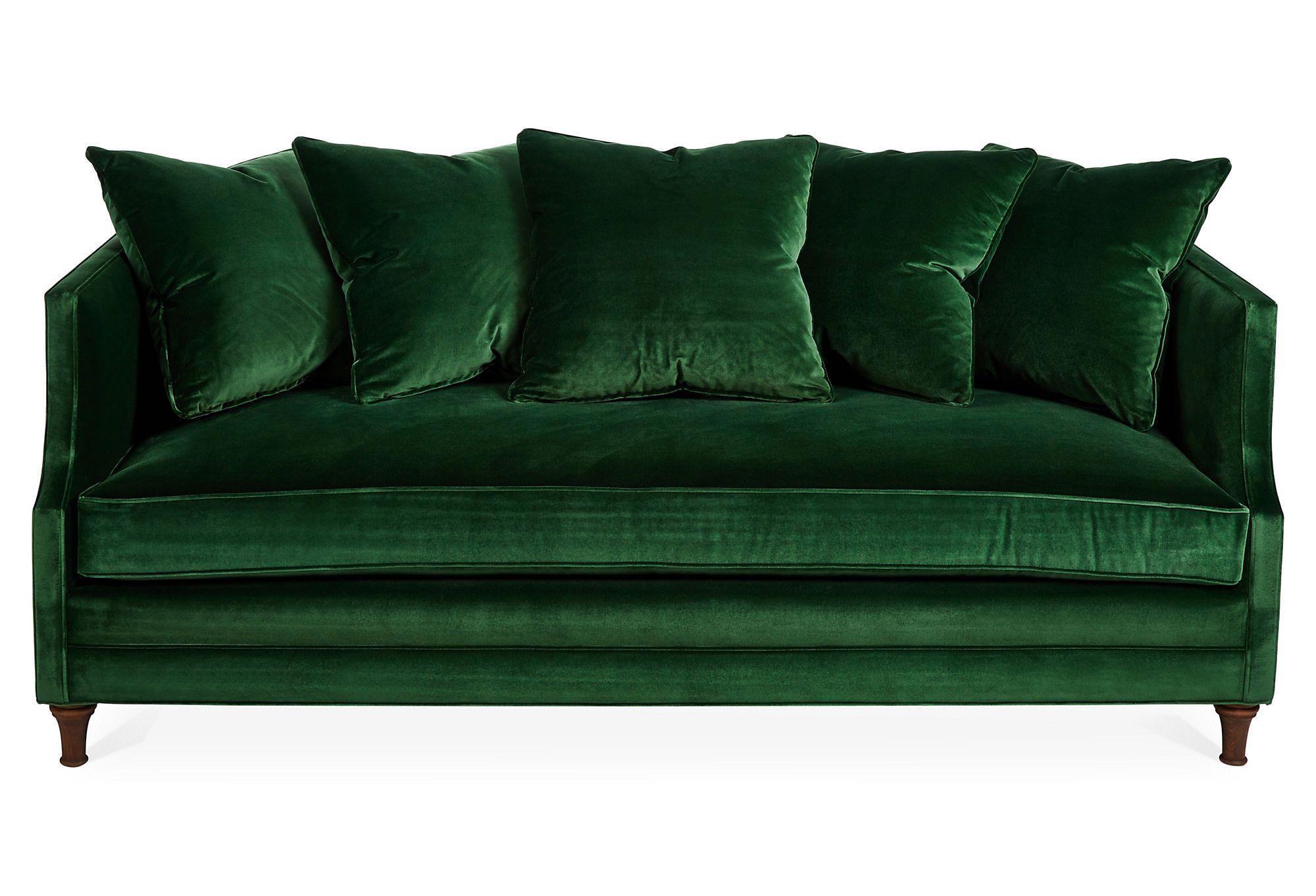 dumont velvet sofa - freshome CJIZNRV