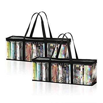 dvd storage bags (set of 2) by mivi : transparent dvd u0026 blu- IYPDHIT