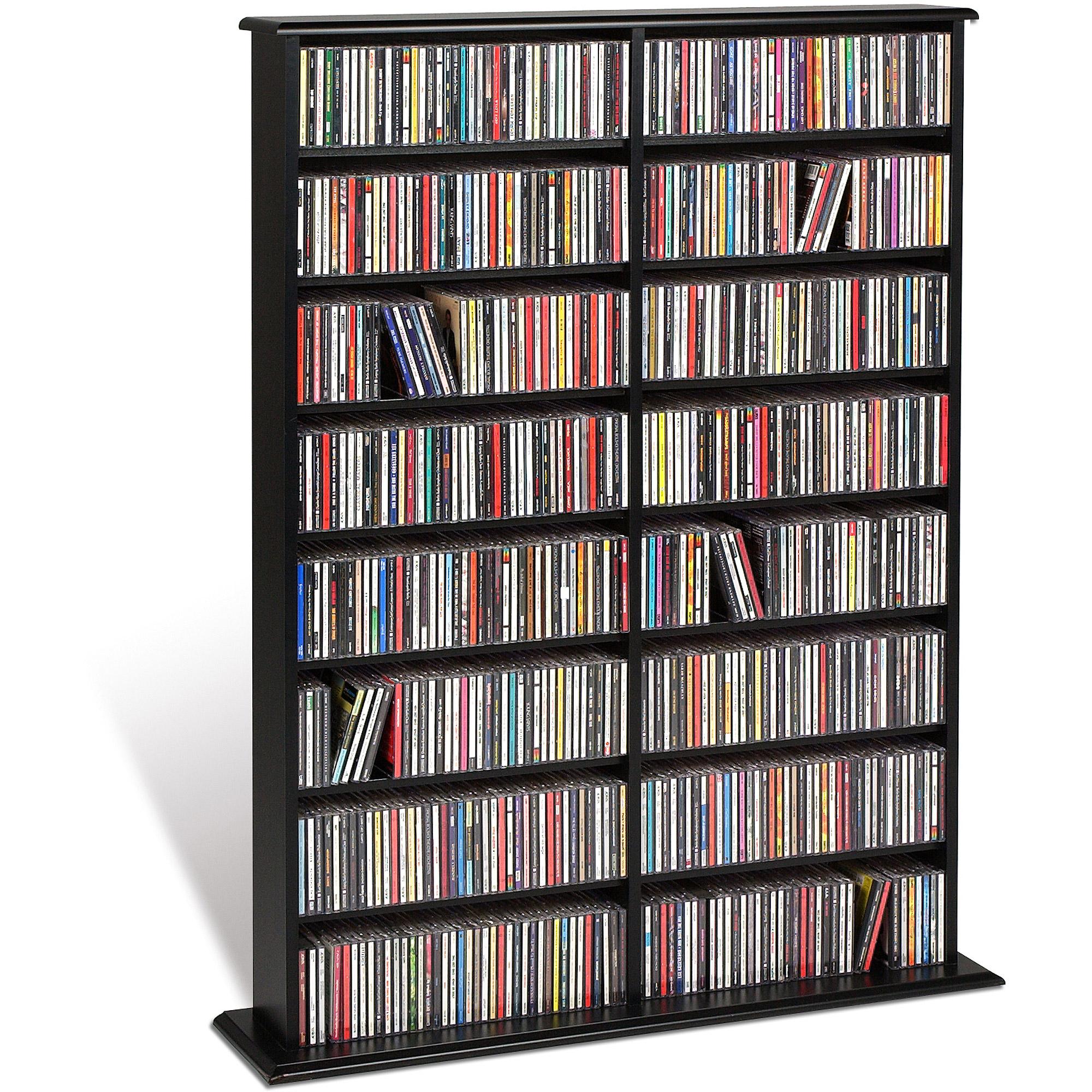 dvd storage prepac double media tower - walmart.com DLKCGLT