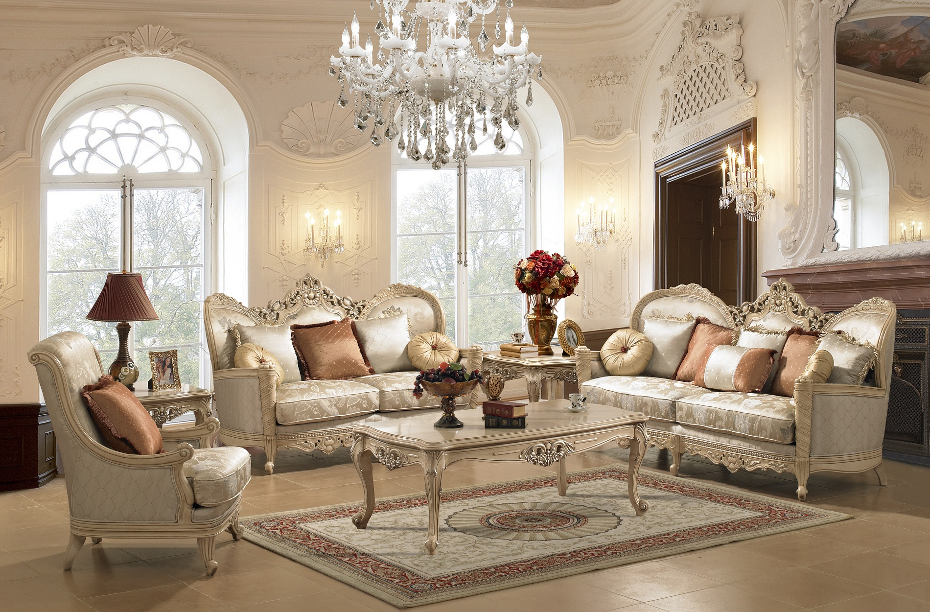 elegant furniture brescia elegant living room set WNIZGZX