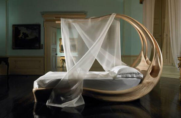 elegant furniture designs - canopy bed UIDFEHF