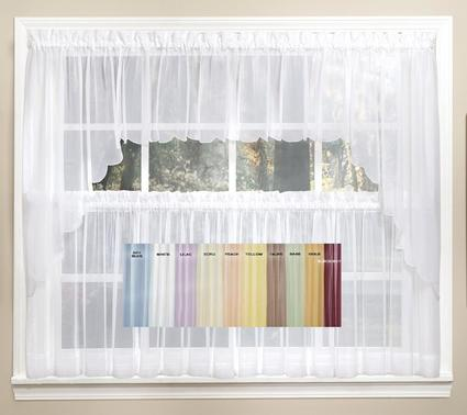 emelia sheer solid kitchen curtain - available in 11 colors PZMTCIG