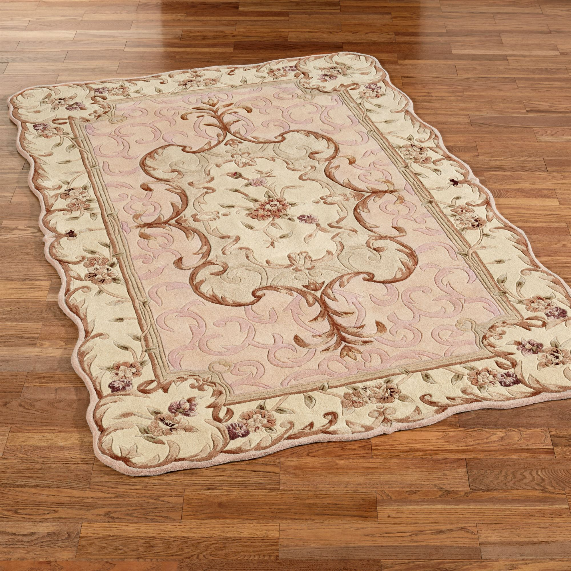 emmalee scalloped wool area rugs BSIDTTG