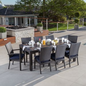 evansville 9 piece outdoor dining set with cushion CATFMHA